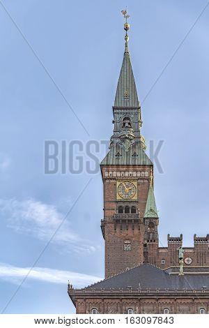 View of Copenhagen city hall in Denmark.