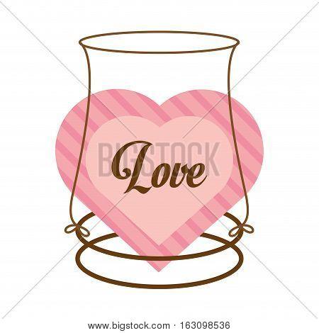 love decor card cute heat vector illustration eps 10
