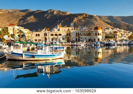 KALYMNOS, GREECE - DECEMBER 11, 2016: Kalymnos island in Dodecanse archipelago in eastern Aegean on December 11, 2016.
