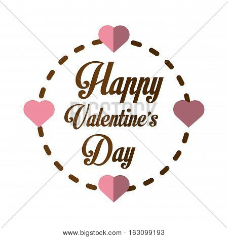 happy valentines day card greeting heart frame vector illustration eps 10