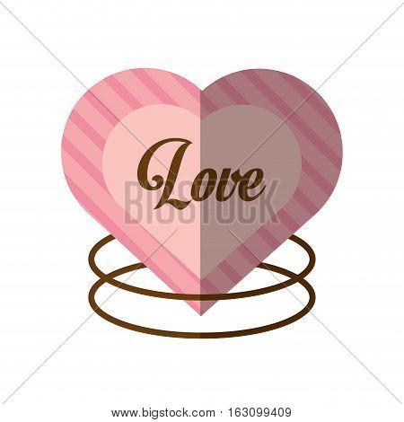 love decorative card cute heat shadow vector illustration eps 10