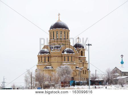 VOLGOGRAD RUSSIA - December 15 2016: The Christian temple of Saint Johns Church in the city of Volgograd Russia