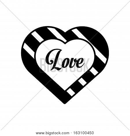 hearts love black and white decoration outline vector illustration eps 10