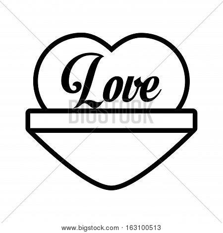 love heart message outline vector illustration eps 10