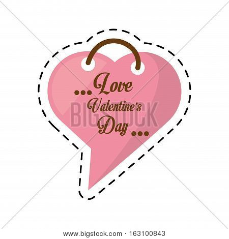 love valentines day card heart shape bubble cut line vector illustration eps 10