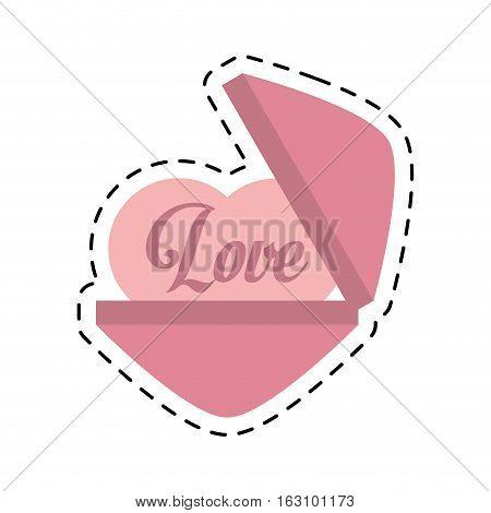 love heart message cut line vector illustration eps 10