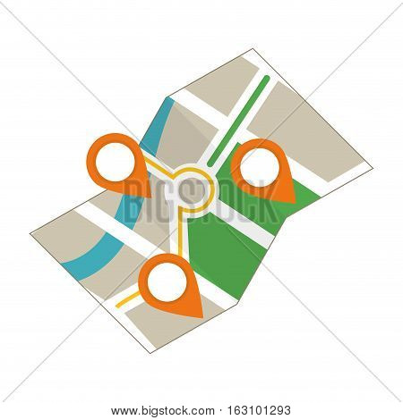 City location map icon vector illustration graphic design