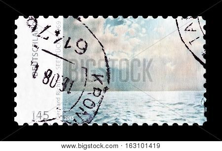 GERMANY - CIRCA 1978 : Cancelled postage stamp printed by Germany, that shows Painting by Gerhardt Richter.