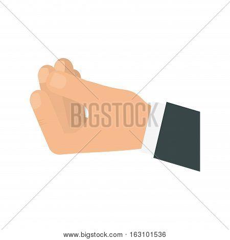 Hnad holding something icon vector illustration graphic design