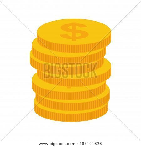 Isolated money coins icon vector illustration graphic design