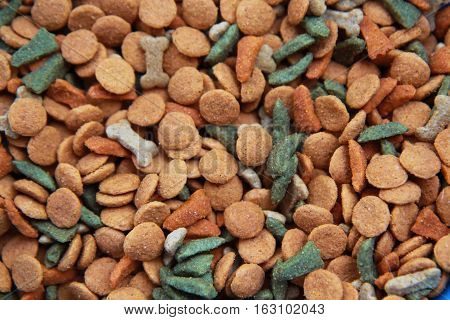 Dog dry food. Useful for backgrounds-Animal feed