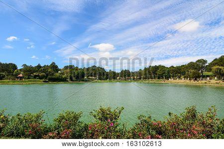 View Of Xuan Huong Lake In Dalat
