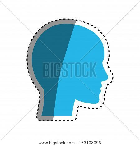 human head silhouette icon vector illustration graphic design