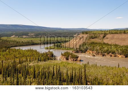 Five Finger rapids on Yukon river near Klondike highway, Canada