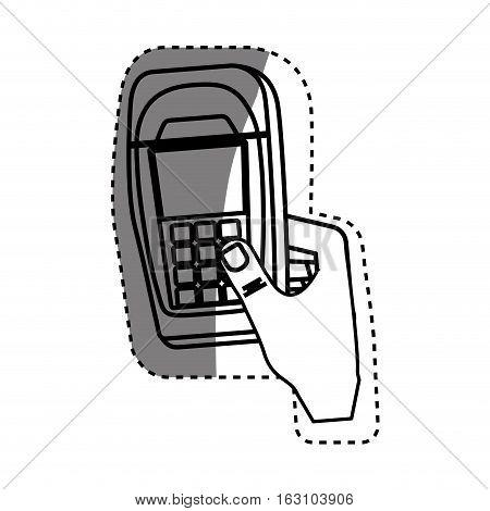 Dataphone transaction payment icon vector illustration graphic design