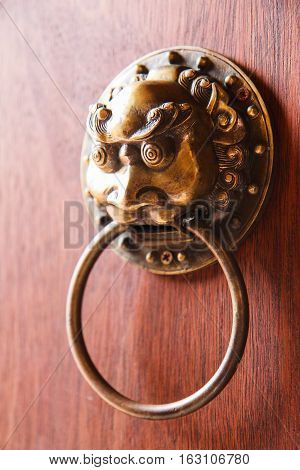 Old chinese doorknob, old chinese style door handle