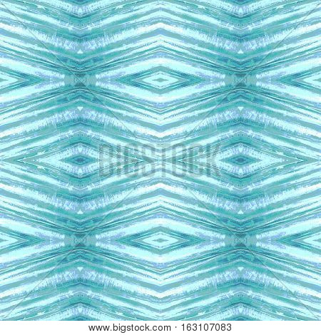 Rhombus abstract tribal seamless pattern. Modern stylish texture. Repeating blue geometric tiles with rhombus.