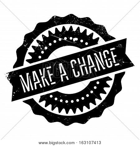 Make a change stamp. Grunge design with dust scratches. Effects can be easily removed for a clean, crisp look. Color is easily changed.