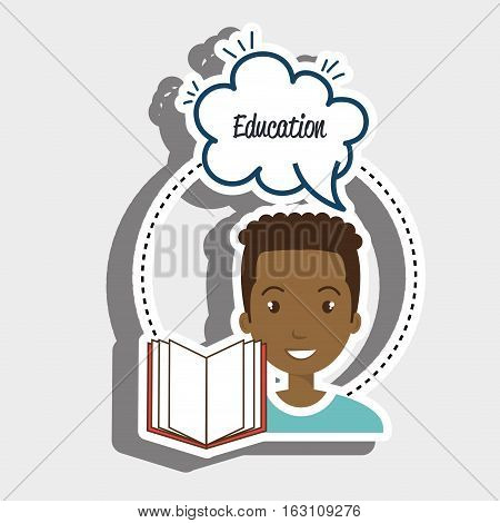 student man eduaction speech vector illustration eps 10