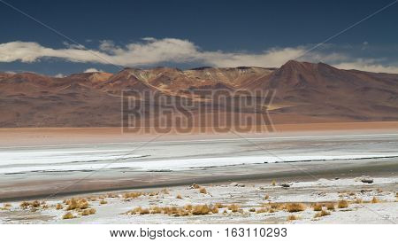 Colourful Dali desert of the Altiplano Bolivia