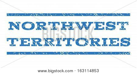 Northwest Territories watermark stamp. Text caption between horizontal parallel lines with grunge design style. Rubber seal stamp with unclean texture.