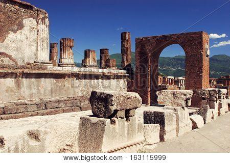 Italy. Ruins of Pompey architecture italy landmark