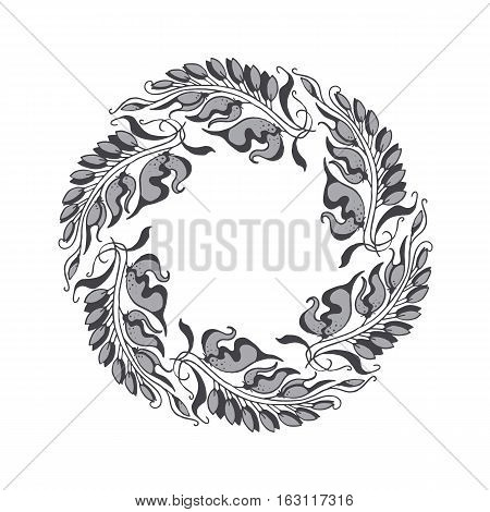 elegant gray Art Nouveau style vector illustration