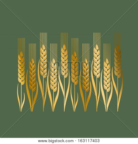 wheat vector illustration in Art Nouveau style
