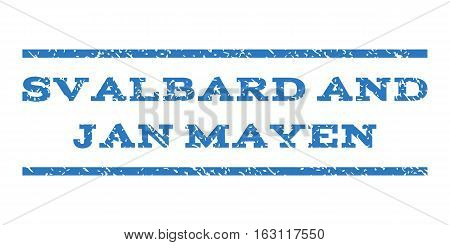 Svalbard and Jan Mayen watermark stamp. Text tag between horizontal parallel lines with grunge design style. Rubber seal stamp with dirty texture.