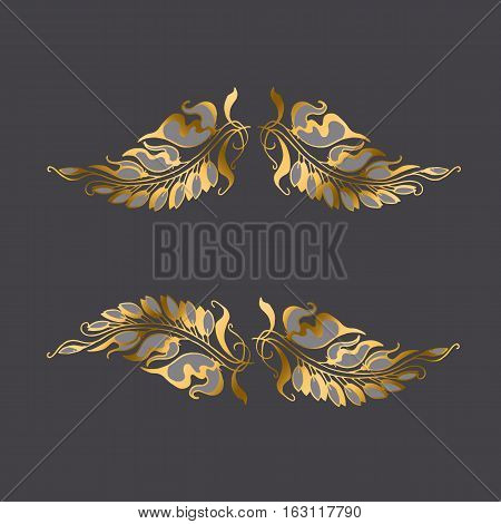 Art Nouveau style decor element (vector illustration)