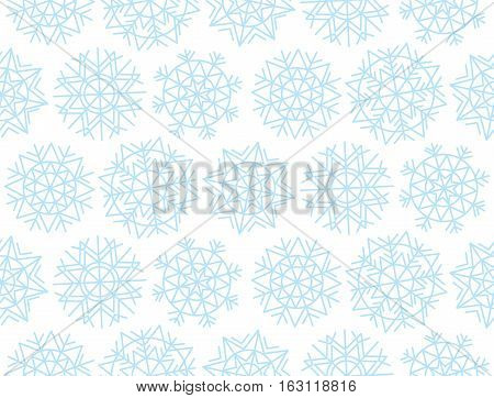 Christmas snowflakes background. Xmas seamless with decorative snowflakes. Vecotr illustration, template for Christmas geeting