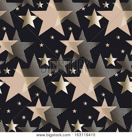 seamless triangle green and gold luxury pattern on black background. geometry arrow seamless festive amass style fabric sample. geometric pattern swatch vector illustration. repeatable background