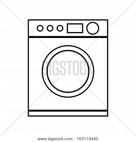 washer machine isolated icon vector illustration design