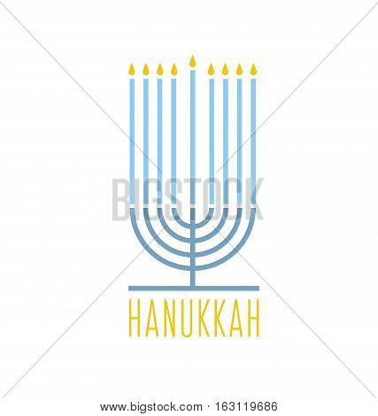 hanukkah juish vector illustration. jewish menorah simple vector icon. hanuka candles symbol.