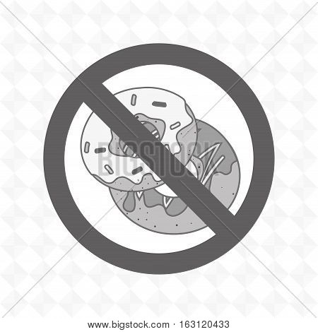 donuts fast food unhealth prohibited vector illustration eps 10