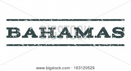 Bahamas watermark stamp. Text tag between horizontal parallel lines with grunge design style. Rubber seal stamp with unclean texture. Vector soft blue color ink imprint on a white background.