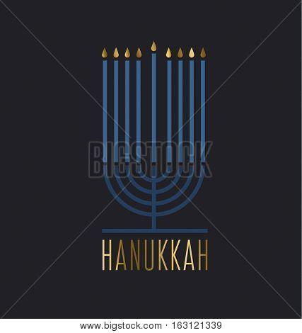 luxury minimalistic style hanukkah menora vector illustration. Juish menora simple vector icon. hanuka candles symbol.