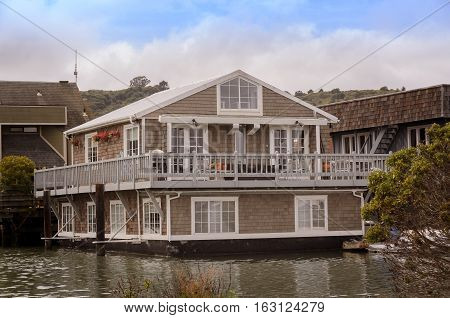 Beautiful and typical houseboat easily found in West North America