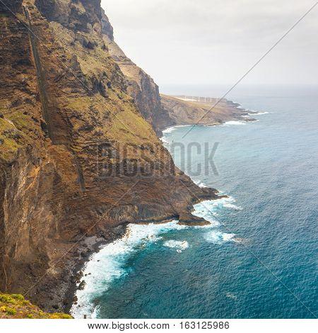 Coast Of Tenerife Near Punto Teno Lighthouse, Canary Islands, Spain