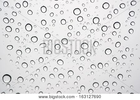 Water drops on glass for the background