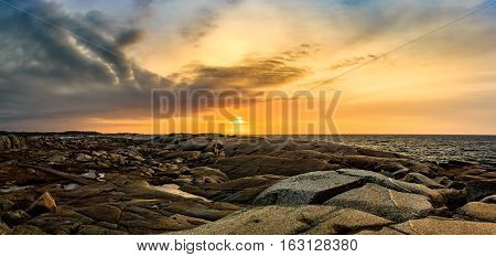 Peggy's Cove Village and Lighthouse in Halifax, Nova Scotia, Canada