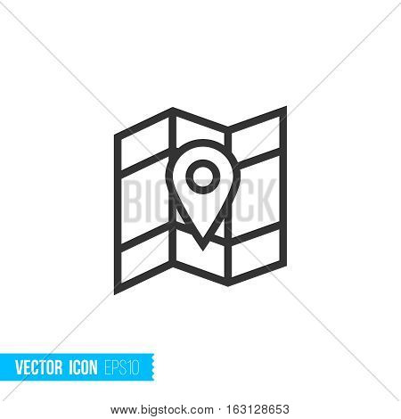 Geo map location. Real estate outline vector icon