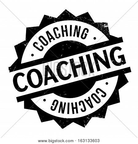 Coaching stamp. Grunge design with dust scratches. Effects can be easily removed for a clean, crisp look. Color is easily changed.