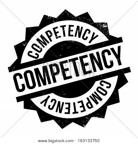 Competency stamp. Grunge design with dust scratches. Effects can be easily removed for a clean, crisp look. Color is easily changed.