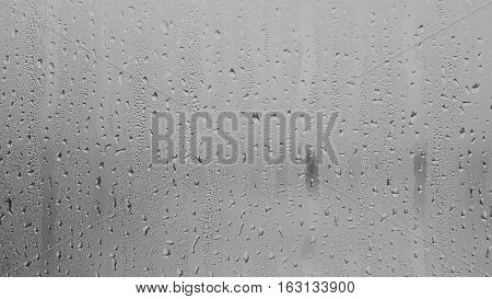 grey water from rain drop texture background