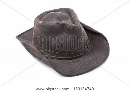 Dark Brown Cowboy Hat isolated on White Background