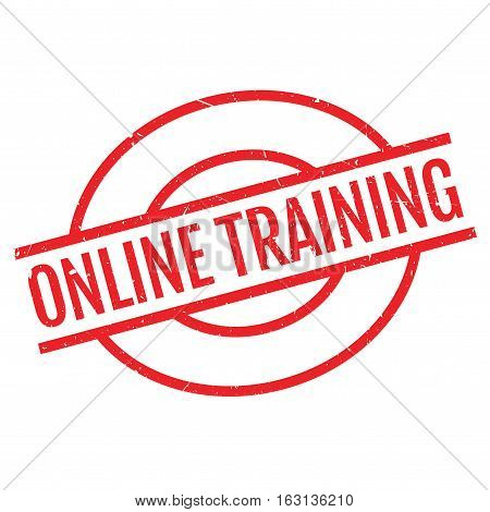 Online training stamp. Grunge design with dust scratches. Effects can be easily removed for a clean, crisp look. Color is easily changed.