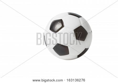 Toy Soccer Ball over white background isolated