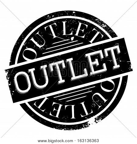 Outlet stamp. Grunge design with dust scratches. Effects can be easily removed for a clean, crisp look. Color is easily changed.