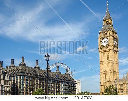 Big Ban Elizabeth Tower Clock Face, Palace Of Westminster, London